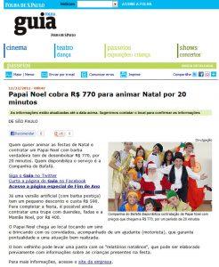 Cia do Bafafá - Papai Noel - Folha de São Paulo